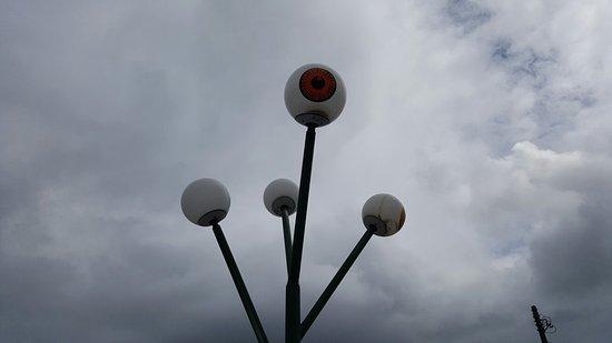 街灯が目玉の親父さん