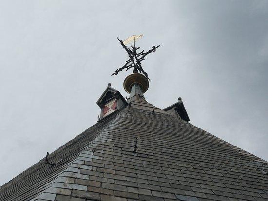 la punta del tetto della torre...