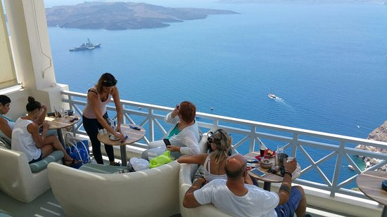 The view from the terrace. And the famous Dacos (cretan dish).