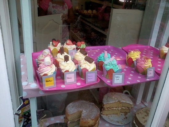 Cupcakes in the window