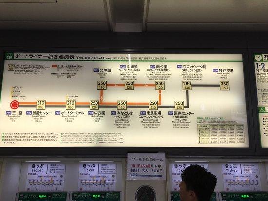 ポートライナー運賃表 - Picture...