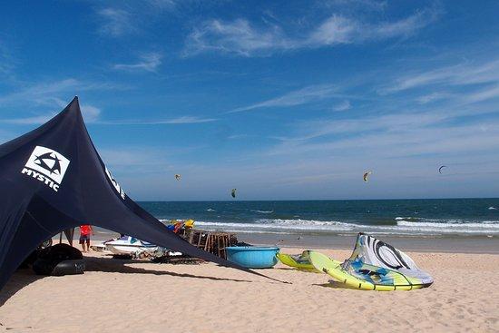 Phan Thiet, Vietnam: Voilà la vue! Et du vent tous les jours :-)