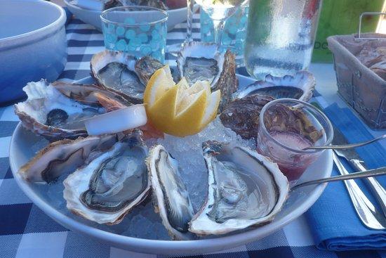 Le Verdon Sur Mer, Prancis: assiette de 6 huitres