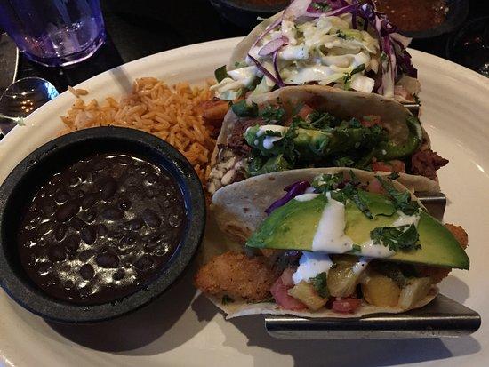 Englewood, CO: 3 Tacos - Shrimp, Steak, California fish