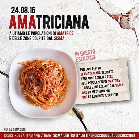 Montecassiano, Italia: iniziativa dell'amatriciana pro terremoto