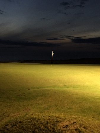 Inverness, Canada: Cabot Bar Flood Lights lighting 18th Green