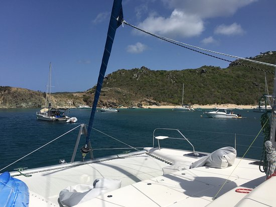 Oyster Pond, St. Maarten: A quick photo before we started our 2nd snorkel