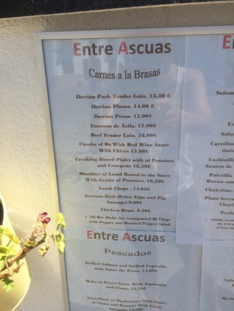 Montejaque, España: Menu 1