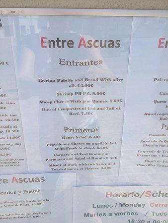 Montejaque, España: Menu 2