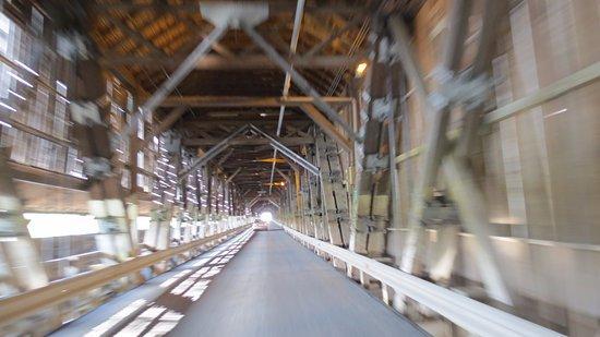 "Hartland, Canada: Through the covered bridge ""tunnel"""