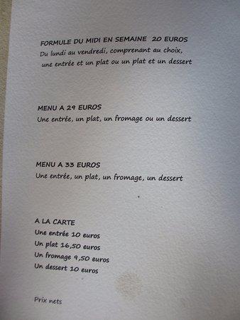 Issigeac, Frankrig: Price list