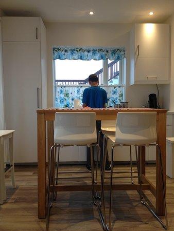Hofn, Islandia: Kitchen/common area