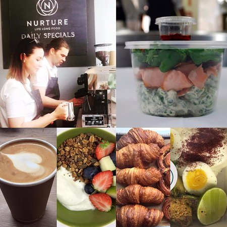 Greater London, UK: Gourmet Health Food & Artisan Allpress Coffee
