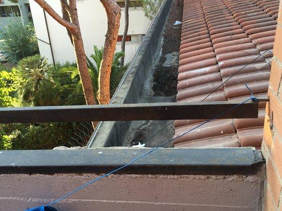 Principina a Mare, Italien: Balcone invisibile con vista su escrementi di piccione