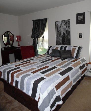 Glen Spey, Нью-Йорк: Comfy queen bed...