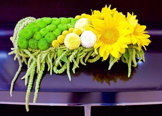 Fresh lobby flowers