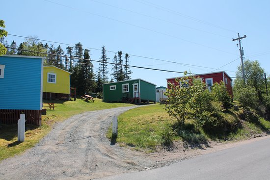 Trinity Cabins: newly, brightly painted cabin colors