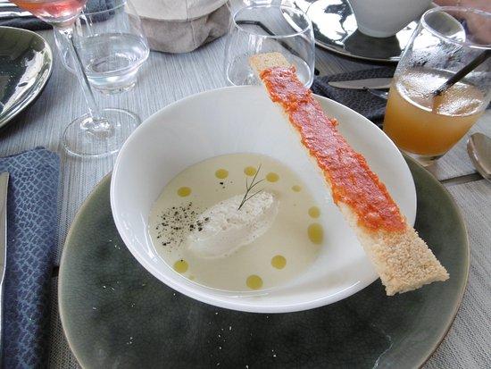 Montner, Francja: soupe froide de pomme de terre et de poireaux