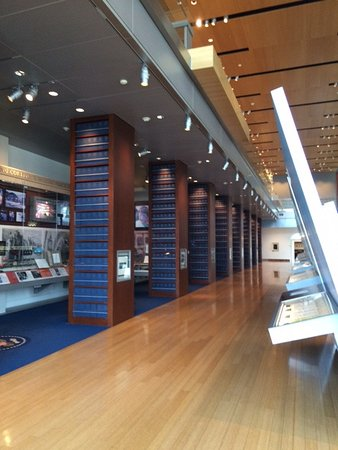 William J. Clinton Presidential Library: Wall of archives, WJC Library Little Rock