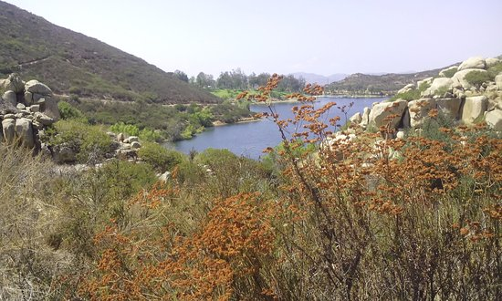 Lake Poway, at the head of the trail