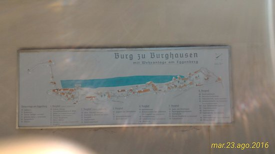 Burghausen, Allemagne : piantina del borgo