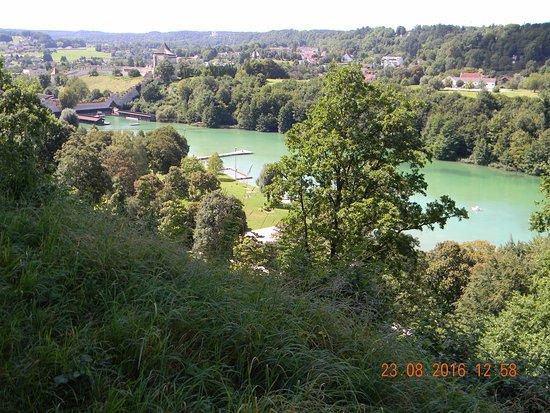 Burghausen, Allemagne : vista dalle mura del fiume Salzach