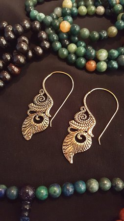 We found these amazing pieces of jewelry at Revital Imports.  Its the best store in Dana Point f