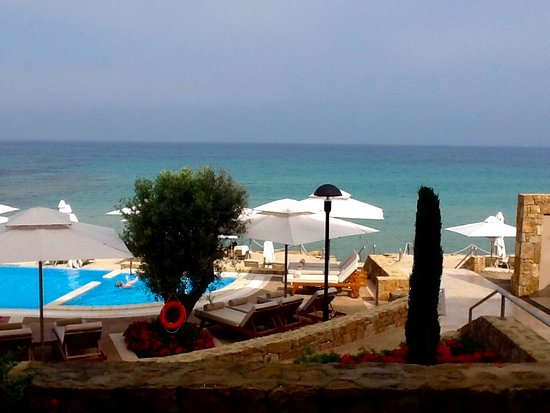 Sani Beach: View from the balcony