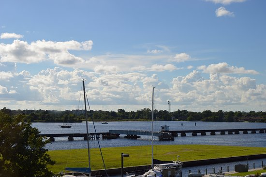 New Bern, Carolina del Norte: View from our hotel room