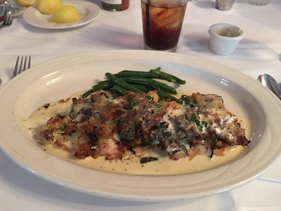 The Grey Gables Inn Restaurant: Baked and Stuffed John Cross Whitefish