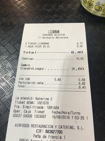 El Prat de Llobregat, Espanha: 飲み物はちょっと高め。