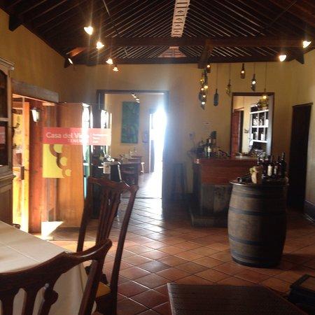 El Sauzal, España: Restaurante y terraza