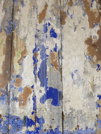 Puhalepa, Estland: One of the many examples of pieces of old wallpapers after recent renovation.