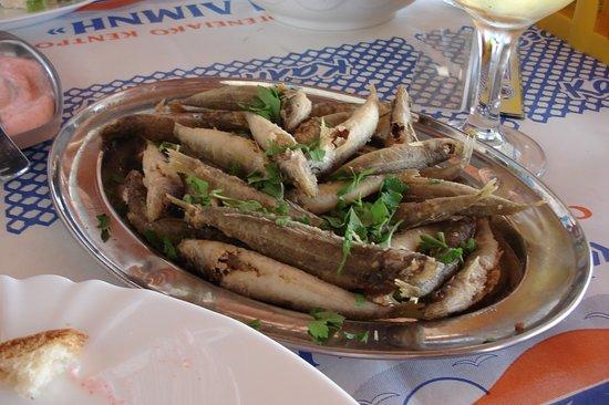 """Agios Theodoros, Zypern: """"Marida"""" (small fish)"""