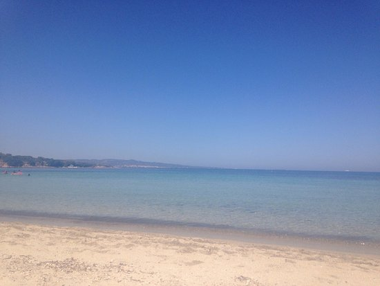Calasetta, Italien: Spiaggia Le Saline (fine agosto)