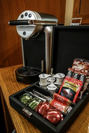 Fivemiletown, UK: Nespresso Coffee Machines in Every Room