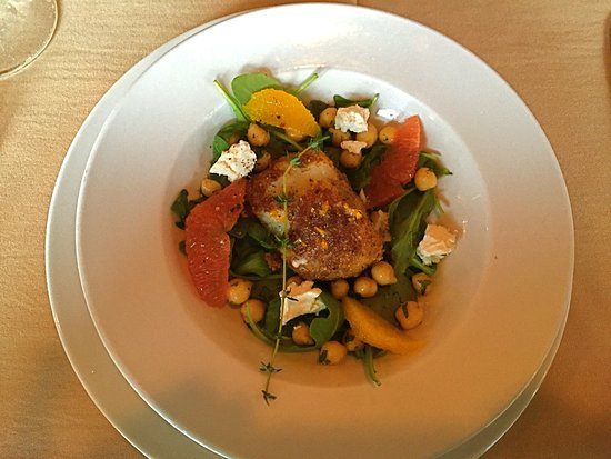 Clawson, MI: Famed Chilean Sea Bass with grapefruit (kitchen split portion).  Delicious!