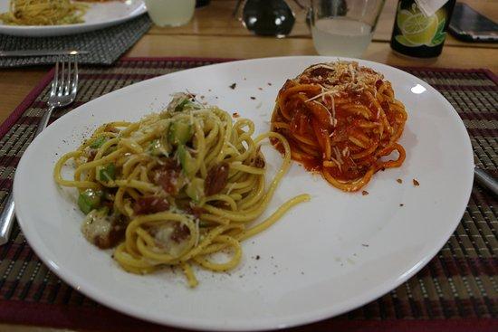 Classic spaghetti (all'amatriciana & alla Gricia)