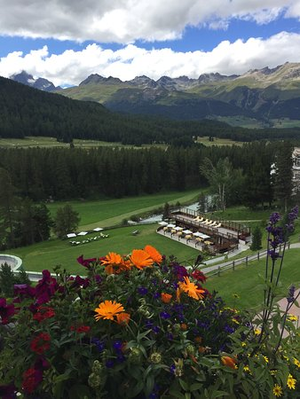 Grand Hotel Kronenhof: View from the most perfect room