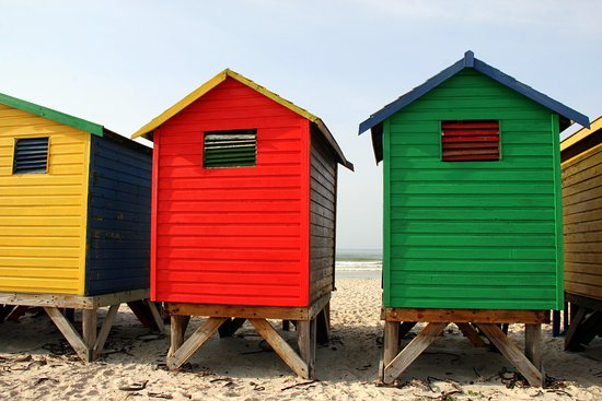 Muizenberg, Sudáfrica: colourful beach houses