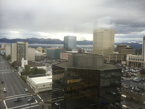 The Hotel Captain Cook: View of downtown Anchorage