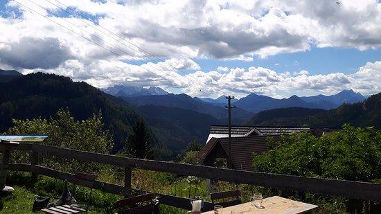 Eisenkappel, Autriche : Aussicht von Alpengasthof Riepl