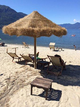 Tenero, İsviçre: Imagem da lagoa/praia