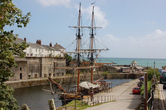 Tall ship in Charlestown harbour