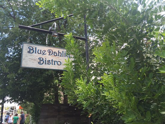 Blue Dahlia Bistro: Outside sign
