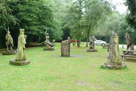 Tintern, UK: sculptures on the walk