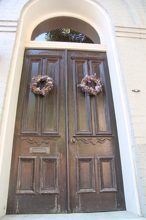 Frederick, Maryland: One of the many beautiful doors on the row houses in Frederick