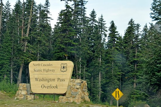 Marblemount, WA: Washington Overlook sign