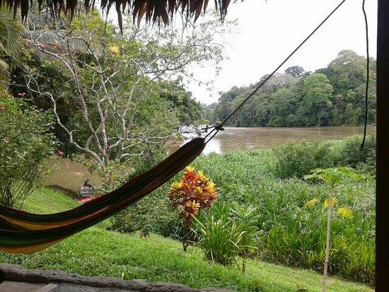 El Castillo, Νικαράγουα: Vue de l'espace déjeuner