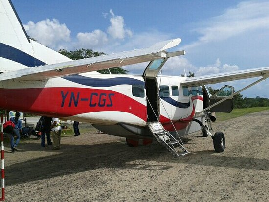 El Castillo, Νικαράγουα: Atterrissage à San Carlos